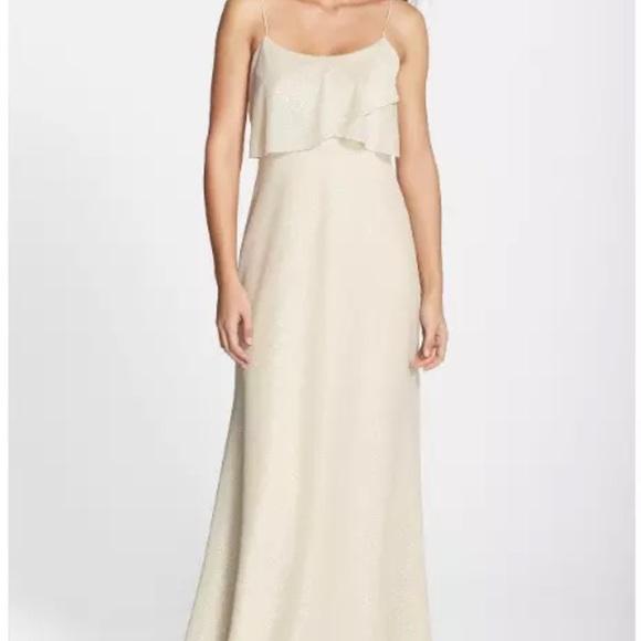 02c164854ff NEW Jenny Yoo Blake glitter knit glam nude dress