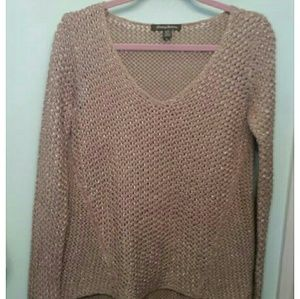 Tommy Bahama Beige and Silver Sweater, Size S