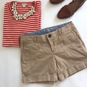 Banana Republic City Chino Khaki Brown Shorts Sz 0