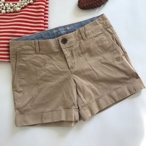 Banana Republic Shorts - Banana Republic City Chino Khaki Brown Shorts Sz 0