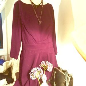 dress with so much style and a plum colour