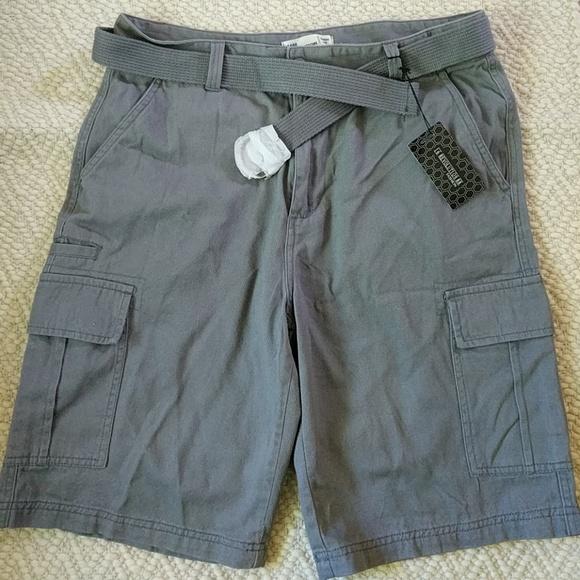 56f1550a7f 16 Revolution 88 Shorts   Nwt Grey Cargo Belt 100 Cotton 36x36 ...