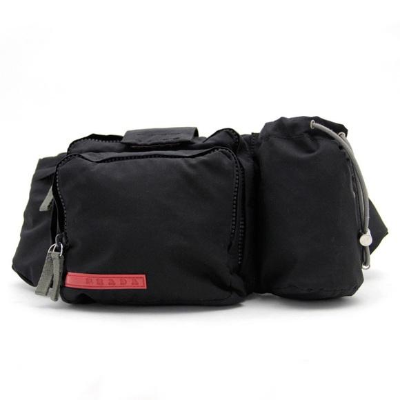 4620dbf8b70d PRADA Sport ✨NERO black nylon waist bag. M_597dee37eaf0304ca00b0f6c