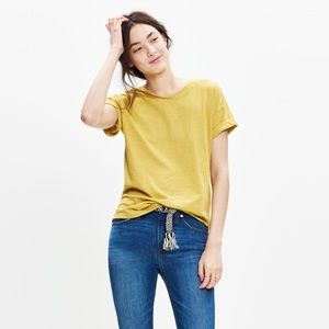 Madewell whisper cotton crewneck tee in limeade