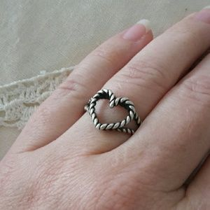 James Avery Jewelry Twisted Wire Heart Ring Poshmark