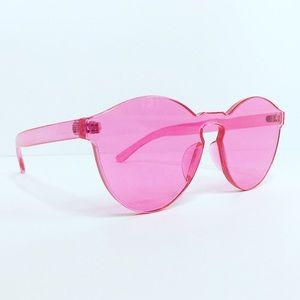 Retro pink sunglasses