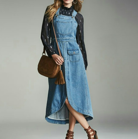 07df54fc931 SEE BY CHLOE Denim Midi Dress Overalls