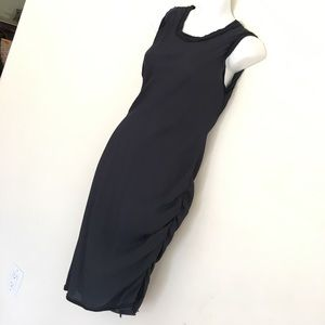 Navy Sleeveless sexy dress