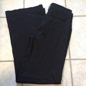 NWT black pin striped Bebe dress pants, size 4