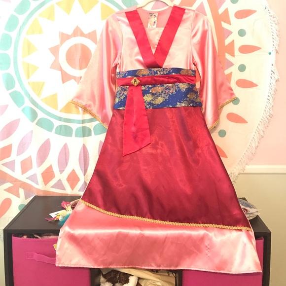 Girls Mulan Costume & Disney Store Mulan Costume Dress