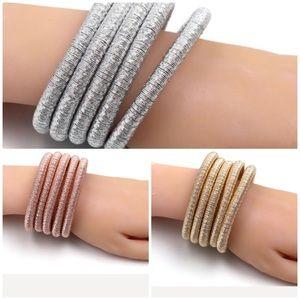 Jewelry - Gold, Rose, Silver or Black Metallic Cuff Bracelet
