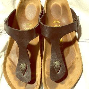 Black Birkenstock Gireh Sandals