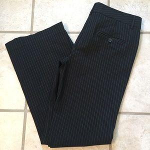 Black pin striped Express Editor pants, size 6R