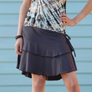 Dresses & Skirts - Spandex double layer mini skirt with side cinch