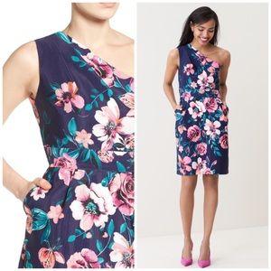 Eliza J One-Shoulder Floral Sheath Dress Plus size