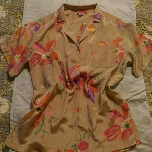 Tops - Vintage Floral Button-down