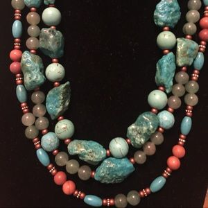 Jewelry - Turquoise, Jade and Agate Handmade Necklaces