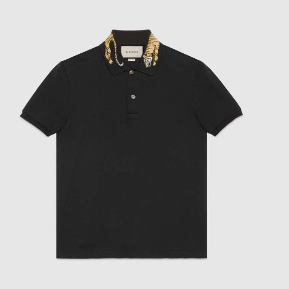 d81f32860 Gucci Tops | Polo Tshirt With Tiger | Poshmark