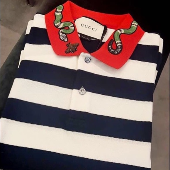 779a8d61b Gucci Tops | Polo Tshirt With Kingsnake And Bee | Poshmark