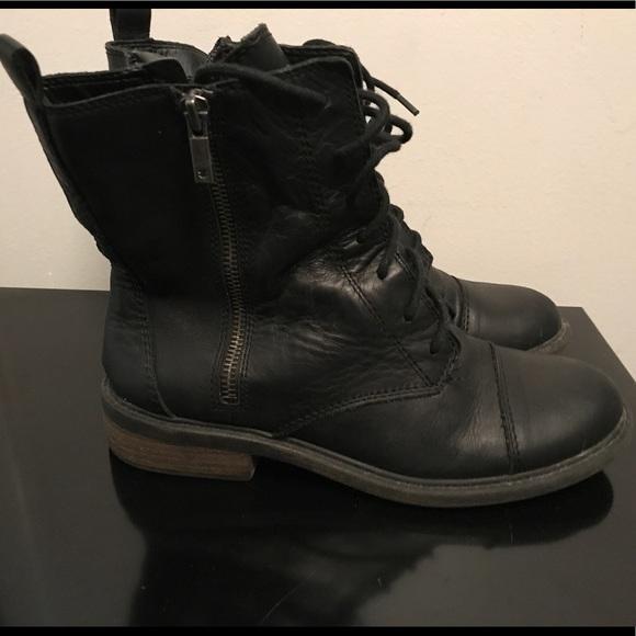 Leather Combat Boots Guc | Poshmark