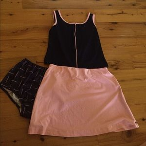 Dresses & Skirts - 🌈 Pink and Purple Vintage Tennis Outfit