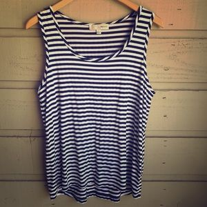 Black & White Striped Tank