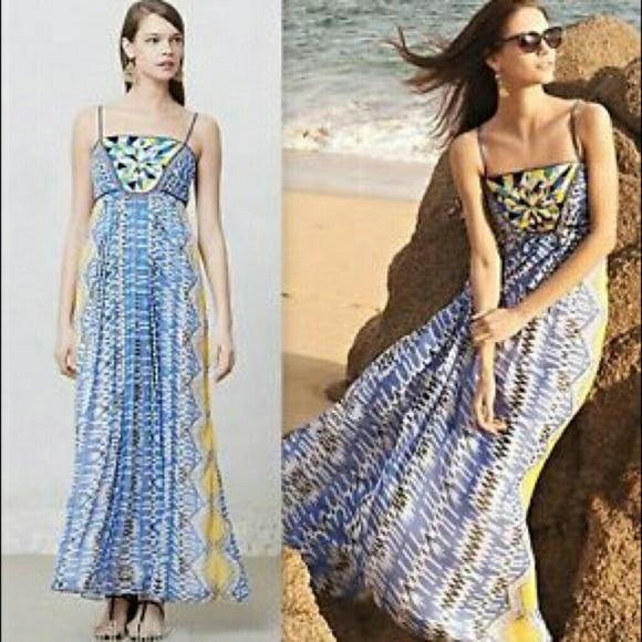 bda6271ef202c Anthropologie Dresses | Ranna Gill Sunburst Maxi Dress Xsp | Poshmark
