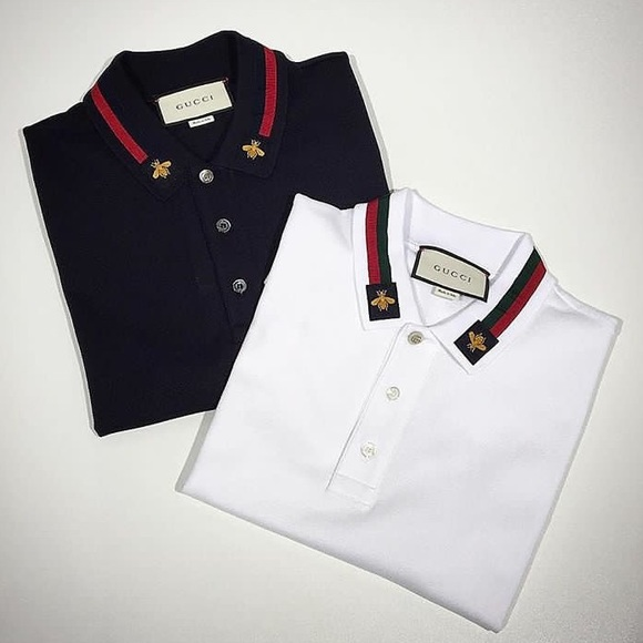 9fa4c600 Gucci Cotton polo with Web and bee