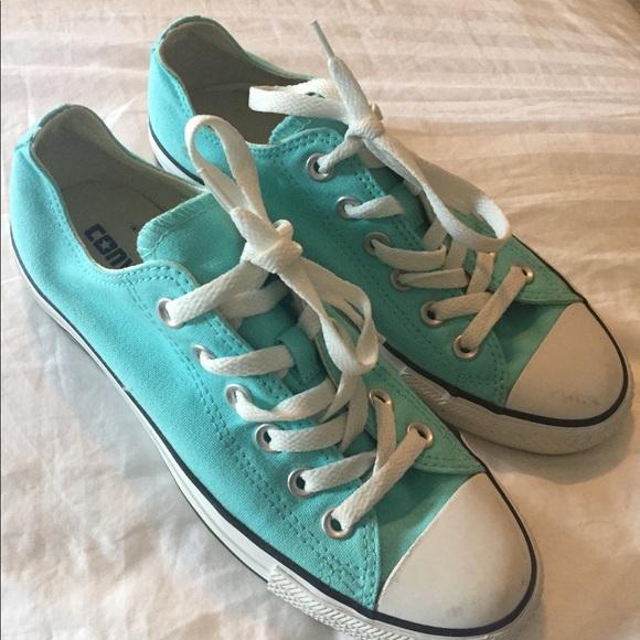 00fa1b3492f4 Converse Shoes - Women s size 7 Tiffany Blue Converse