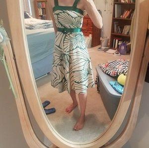 Tan and green sundress