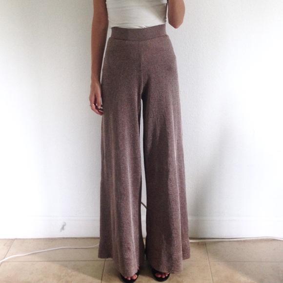 6920ac23 Zara / Knit Wide Leg Trousers. M_597e3153ea3f36c9730c29c9