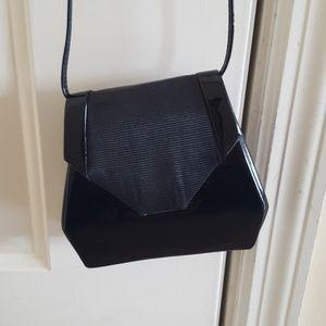 Handbags - Black Patent Leather Vintage Evening Bag
