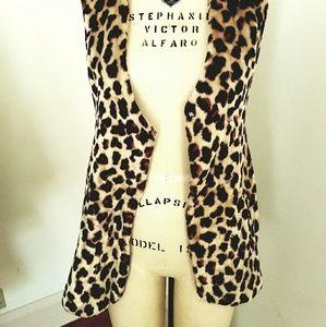 1970S Faux Fur Cheetah print Vest