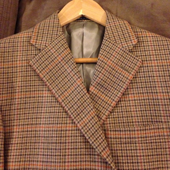 Austin Reed Suits Blazers Austin Reed Nwt Tan Gold Plaid Sport Coat 4l Poshmark