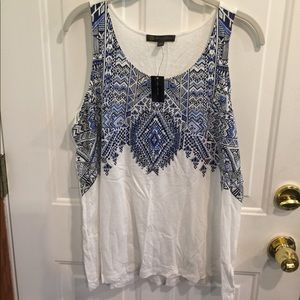NWT OUtback Red White/ Blue Design Tank Top