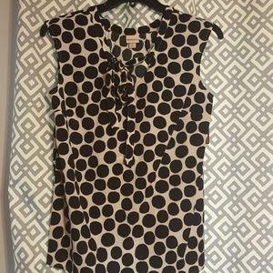 NWT Bow Tie polka dot blouse