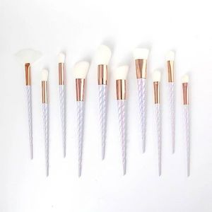 Other - 10 pc Unicorn Handle Makeup Brushes