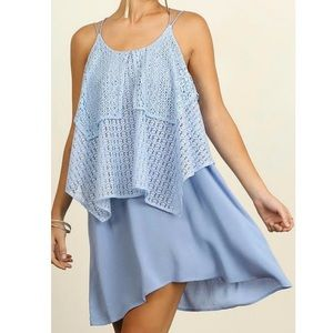 Umgee Blue Lacey Dress