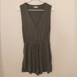 Urban outfitters olive colored romper