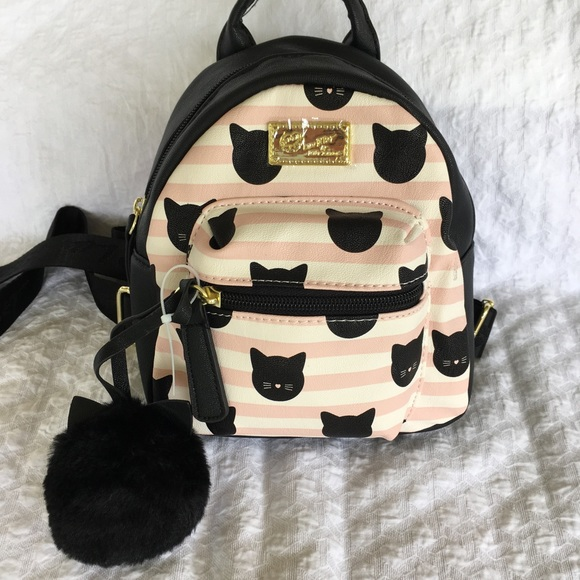 b4e42dcc8c Betsey Johnson Bags | Mini Cat Backpack | Poshmark