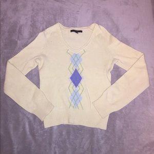 Express argyle sweater, size M