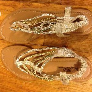 Shoes - Beautiful Jeweled Sandals NWT