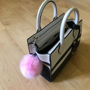 Other - Pink puff ball purse attachment