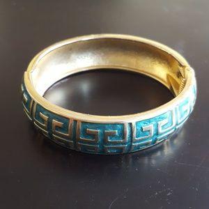 Jewelry - Turquoise & Gold Enamel Bracelet - Fashion Jewelry