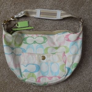 "Coach Pastel Signature ""C"" Hobo Bag"