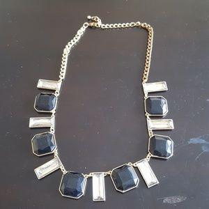 Jewelry - Black & Crystal Necklace - Fashion Jewelry