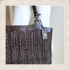 Etienne Aigner Purse, Fab Woven Leather