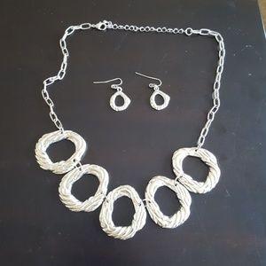 Jewelry - Silver Necklace & Earrings - Fashion Jewelry