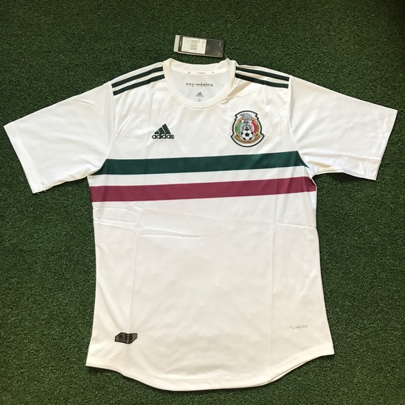 49d60d716 Mexico 2018 Soccer Jersey away white short sleeve