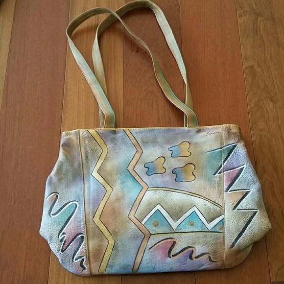 Sova hand painted leather bag. M 597e454e7f0a05a8220c703b 6fb50df29c